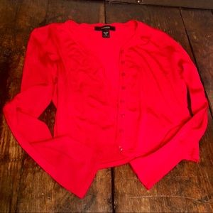 Express. Red Cardigan